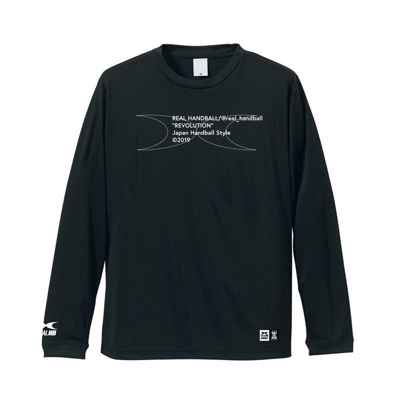 メッセージ ドライロングTシャツ  ブラック
