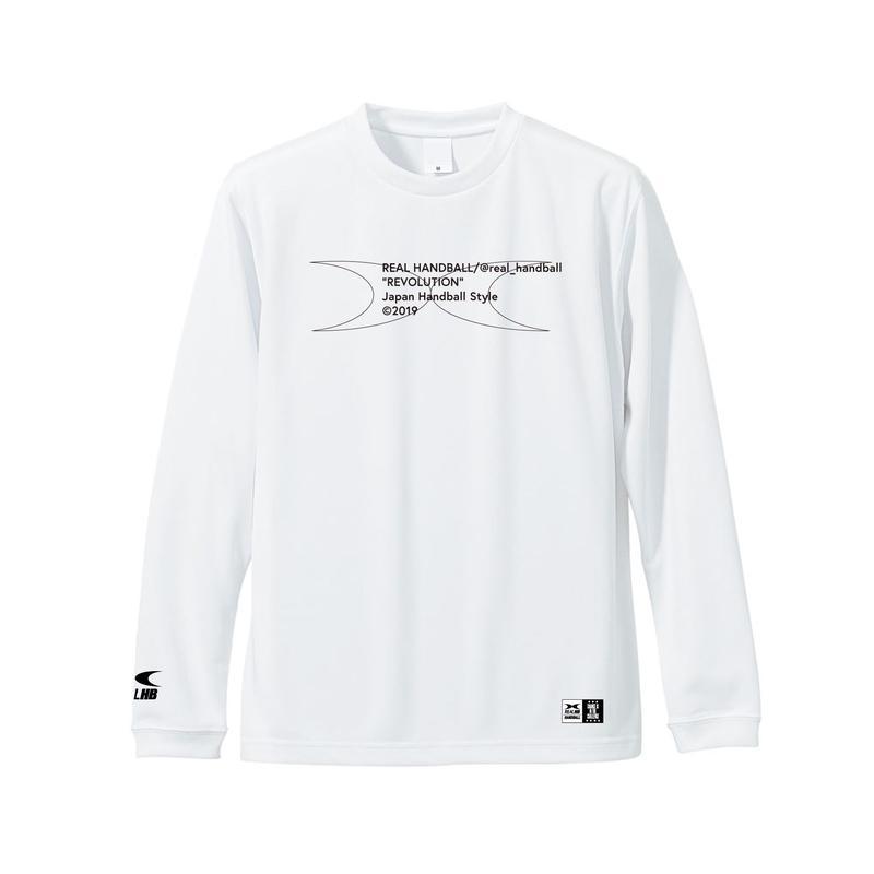 メッセージ ドライロングTシャツ  ホワイト