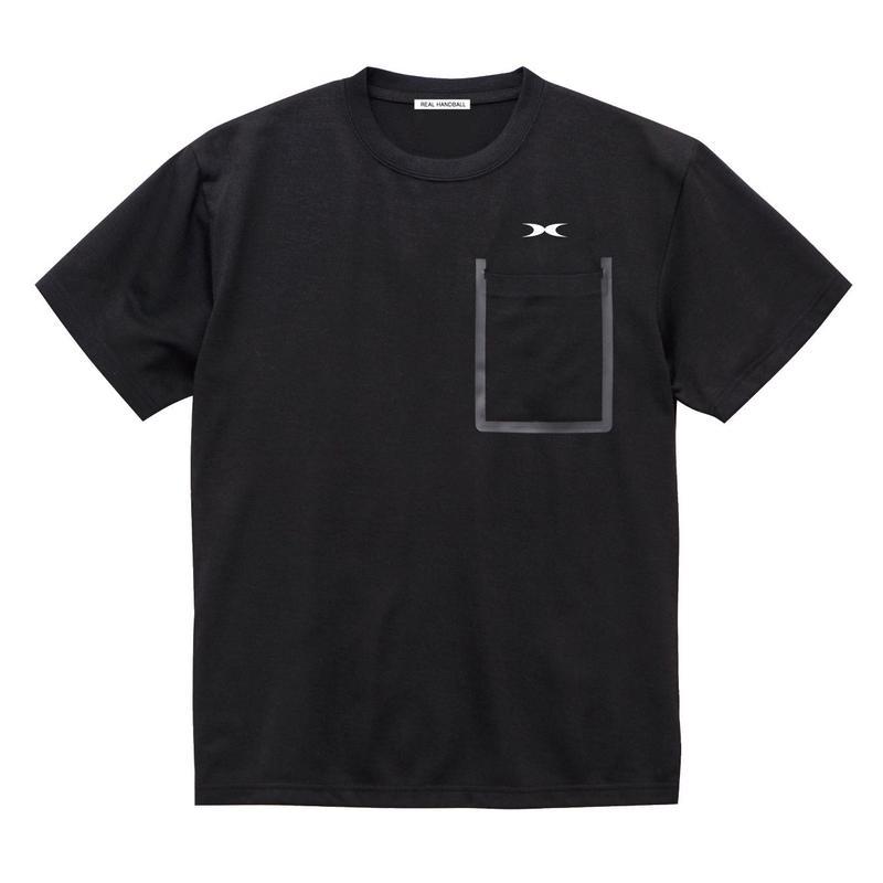 ポケットドライTシャツ ブラック