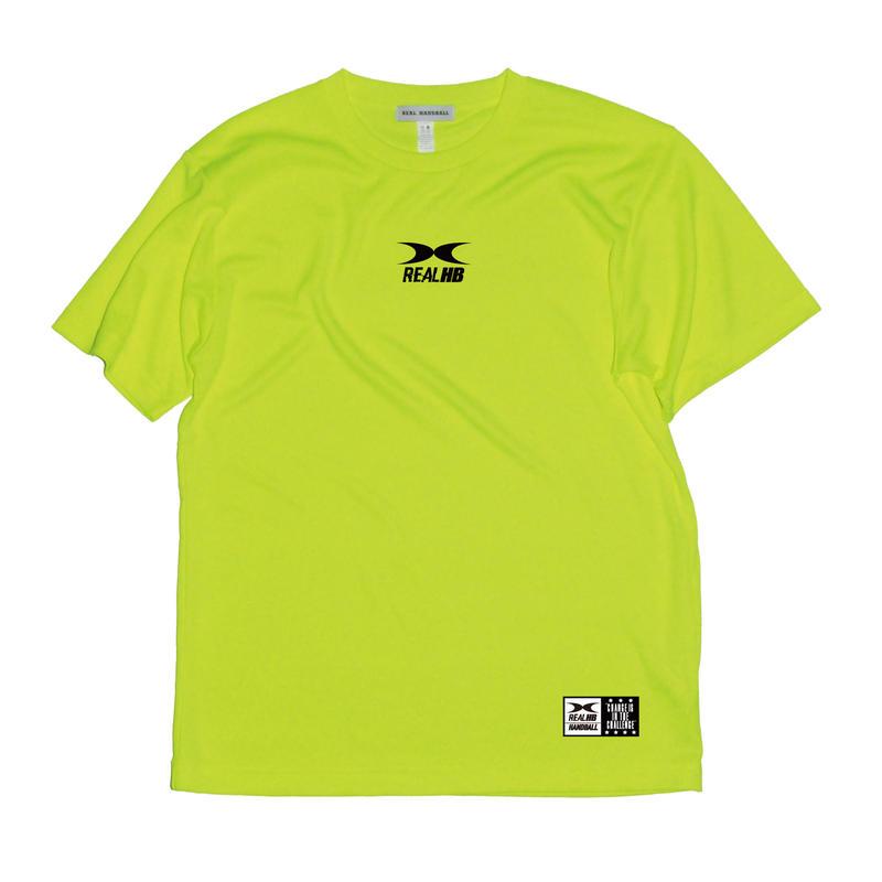 ビッグロゴ ドライTシャツ ショッキングイエロー