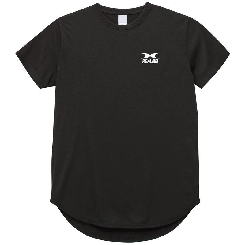 ドライラウンドオーバーサイズTシャツ ブラック