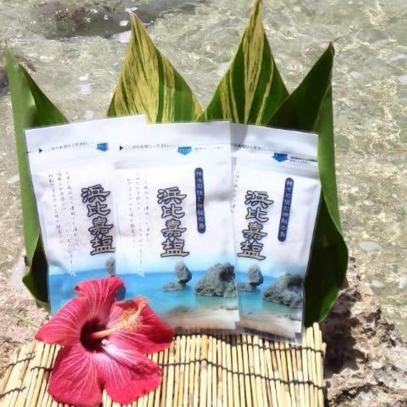 【送料込】沖縄天然塩「浜比嘉塩100g」 5個セット