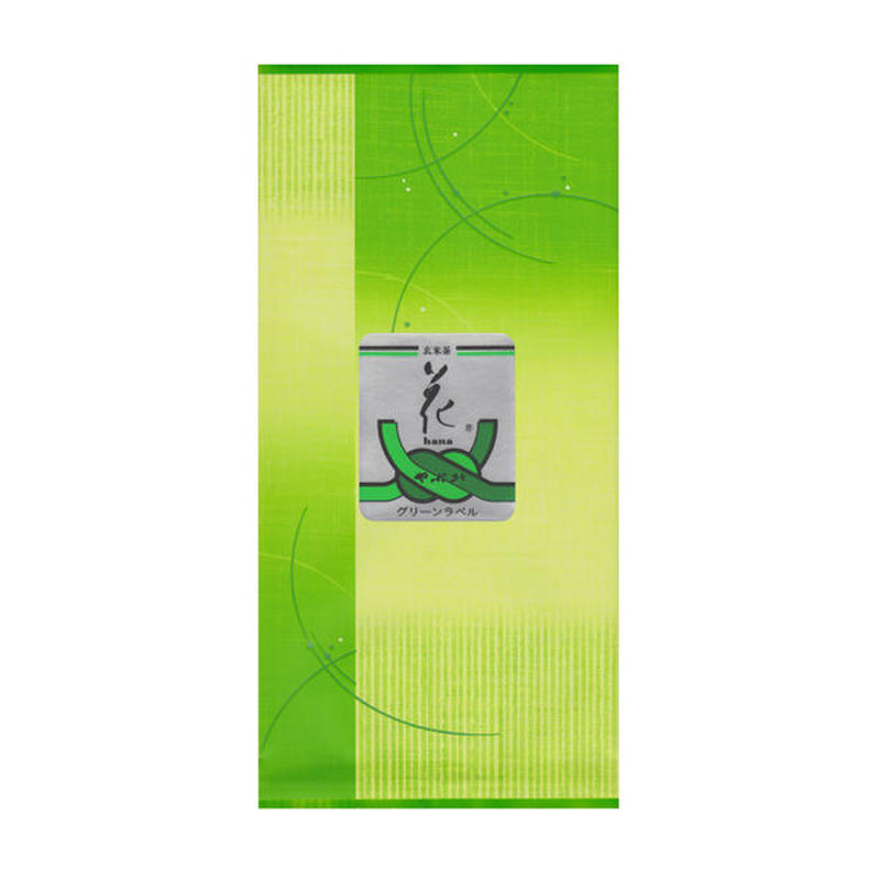 抹茶入玄米茶「花グリーンラベル」100g  「送料220円」