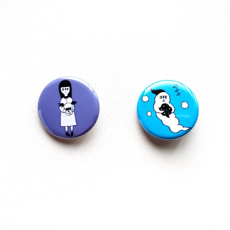 Kyorome 缶バッチ2個セット/ Tin badge set