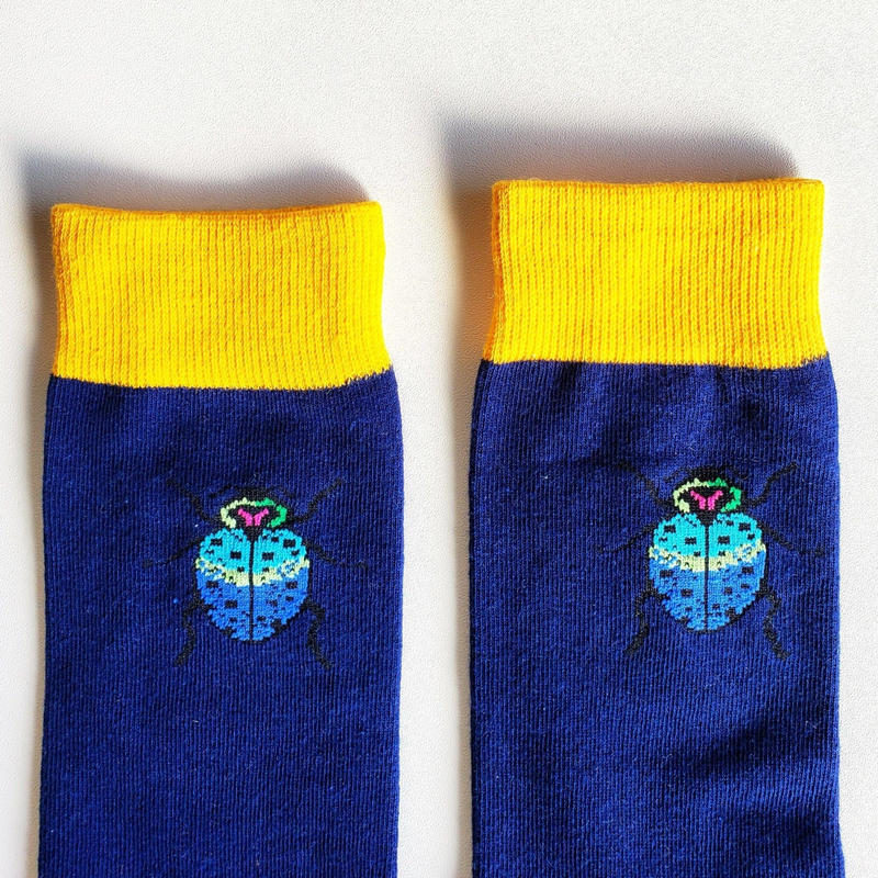 玉虫ソックス/ unisex socks 'jewel beetle'