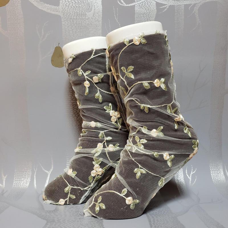 フラワーレースソックス オフホワイト/ off white lace socks