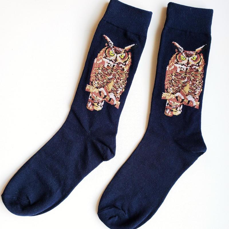ミミズクソックス/ Mr.Horned Owl socks