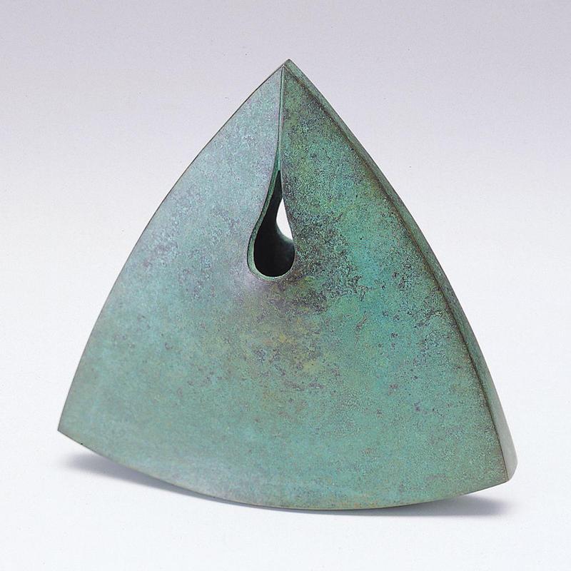 008-02 花器 炎(ほのお)三角