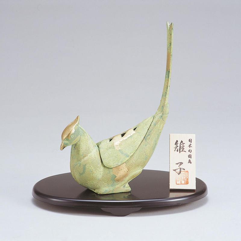 049-04 香炉 雉子(中)