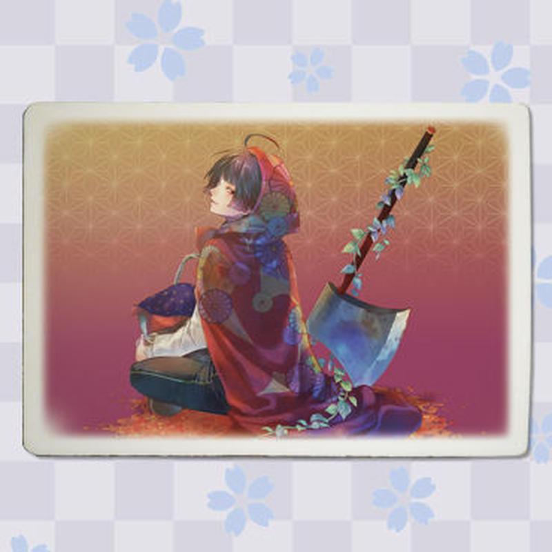 【書き下ろし&ノベルティカード付き】「白皙」九谷焼アートパネル(スタンド付き)  2