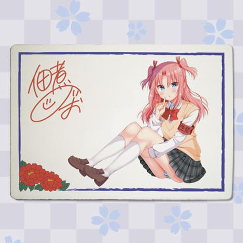 【複製サイン入り】「佃煮のりお」九谷焼アートパネル(スタンド付き)  2
