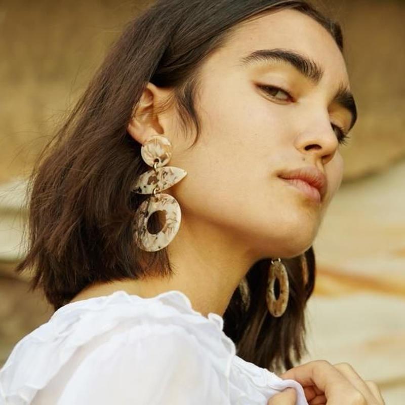 VALET - Evie Earrings (Marble)