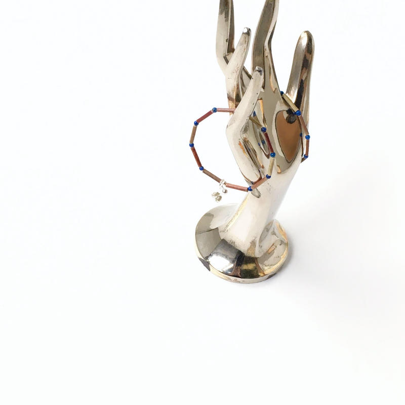 BEADS ROUND 12 EARRINGS (3 STONES) - イヤリング