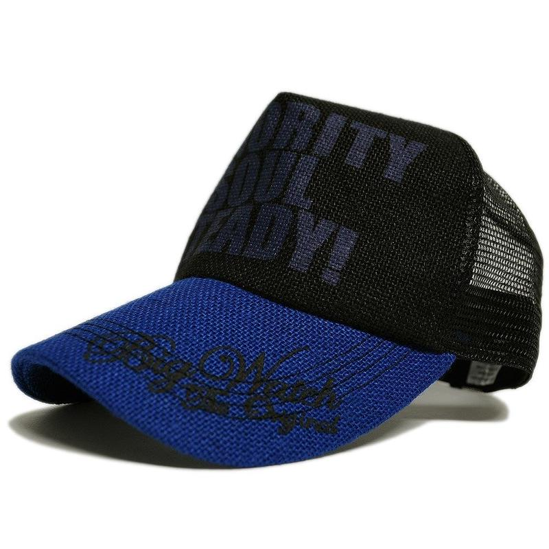 CP-27 ヘンプキャップBIGWATCH   ブラック/ブルー/ブラック