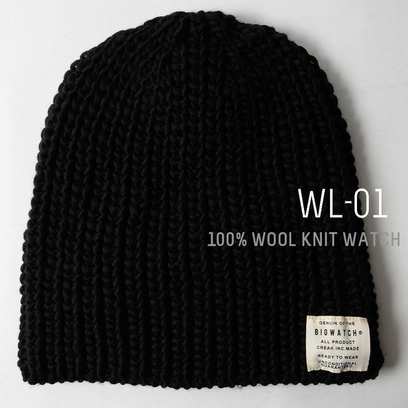 wl-01 ウール BIGWATCH  ブラック