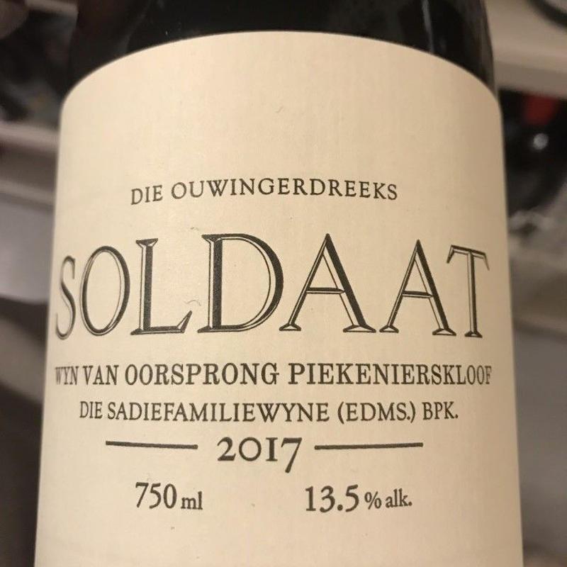 ザ サディー ファミリー ワインズ/ソルダート 2017 赤