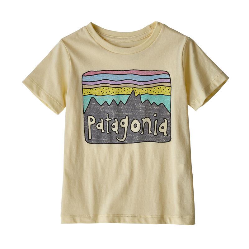 Patagonia(パタゴニア) ベビー・フィッツロイ・スカイズ・オーガニック・Tシャツ #60419 Resin Yellow (REYE)