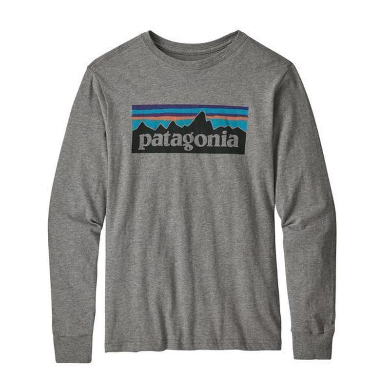 Patagonia(パタゴニア) ボーイズ・ロングスリーブ・グラフィック・オーガニック・Tシャツ  #62229   P-6 Logo Heather (PLOG)