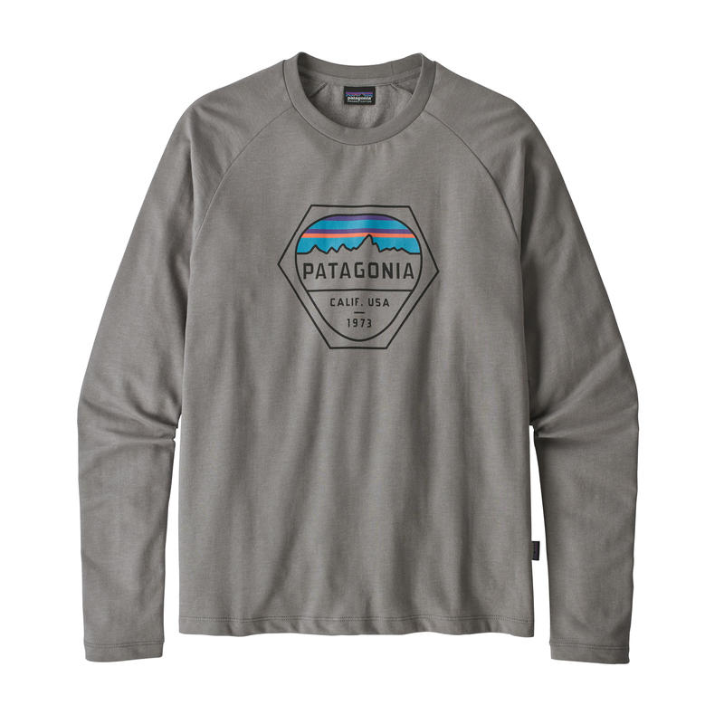 Patagonia(パタゴニア) メンズ・フィッツロイ・ヘックス・ライトウェイト・クルー・スウェットシャツ #39548 Feather Grey (FEA)