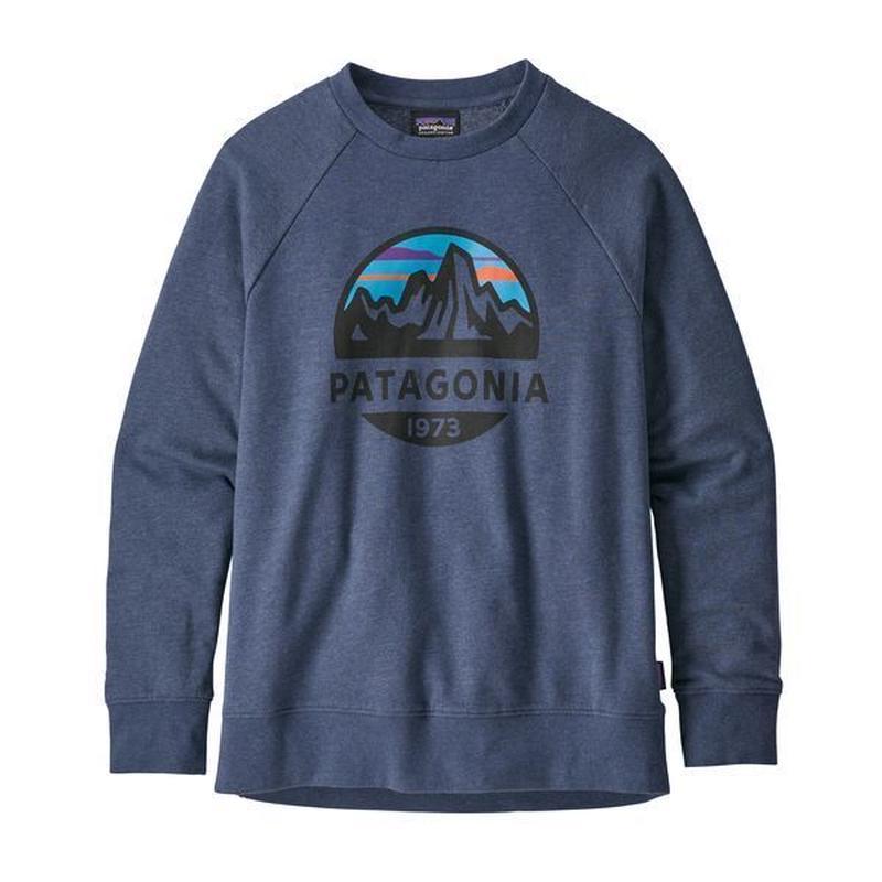 Patagonia(パタゴニア)  キッズ・ライトウェイト・クルー・スウェットシャツ #63015  Fitz Roy Scope: Dolomite Blue (FRSD)