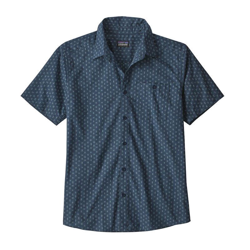 Patagonia(パタゴニア) メンズ・ゴー・トゥ・シャツ #52691 Space Micro: Stone Blue (SMSE)