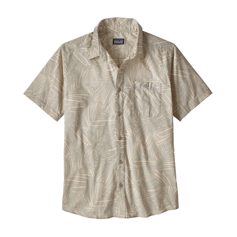 Patagonia(パタゴニア) メンズ・ゴー・トゥ・シャツ #52691 Rain Fern Reverse: Tailored Grey (RFTA)