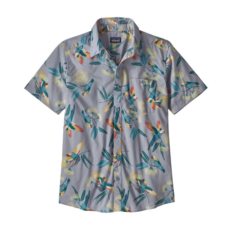 Patagonia(パタゴニア) メンズ・ゴー・トゥ・シャツ #52691 Parrots: Ghost Purple (PAGH)