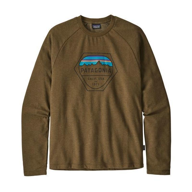 Patagonia(パタゴニア) メンズ・フィッツロイ・ヘックス・ライトウェイト・クルー・スウェットシャツ   #39548   Sediment (SEMT)