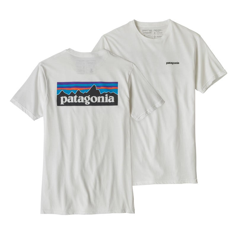 Patagonia(パタゴニア) メンズ・P-6ロゴ・オーガニック・Tシャツ #39151 White (WHI)