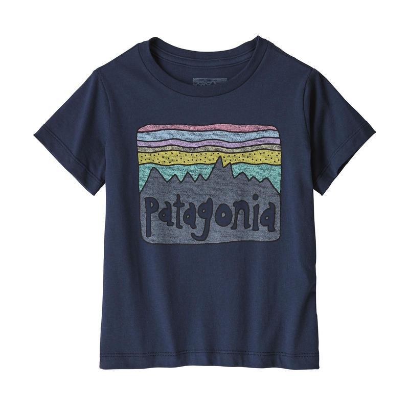 Patagonia(パタゴニア) ベビー・フィッツロイ・スカイズ・オーガニック・Tシャツ #60419 New Navy (NENA)