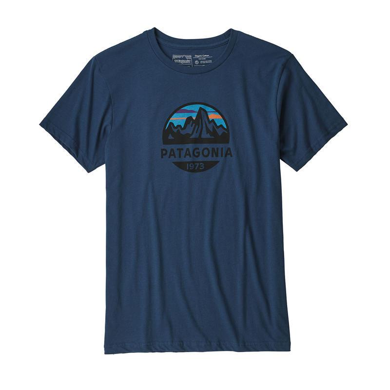 Patagonia(パタゴニア) メンズ・フィッツロイ・スコープ・オーガニック・Tシャツ #39144 Stone Blue (SNBL)