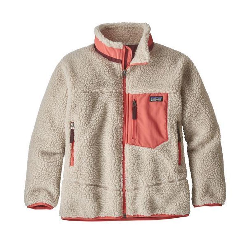 Patagonia(パタゴニア) キッズ・レトロX・ジャケット #65625  Natural w/Spiced Coral (NASC) [商品管理番号:98-ptretrojk]