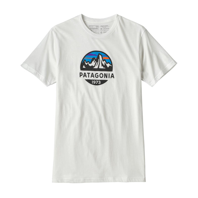Patagonia(パタゴニア) メンズ・フィッツロイ・スコープ・オーガニック・Tシャツ #39144 White (WHI)