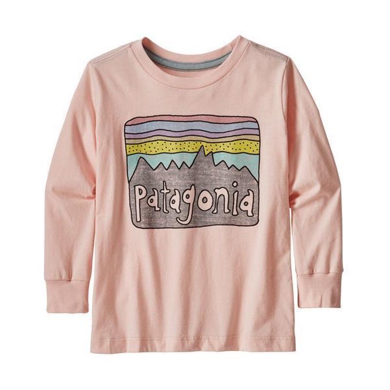 Patagonia(パタゴニア) ベビー・ロングスリーブ・グラフィック・オーガニック・Tシャツ  #60370  Futz Roy Skies/Pink (LLVG)