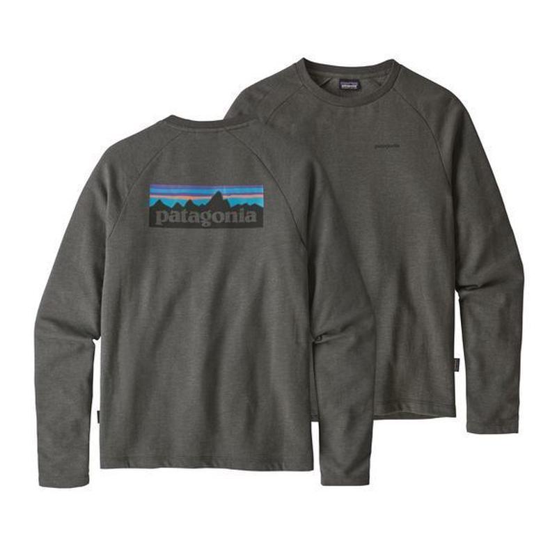 Patagonia(パタゴニア) メンズ・P-6 ロゴ・ライトウェイト・クルー・スウェットシャツ #39550 Forge Grey (FGE)