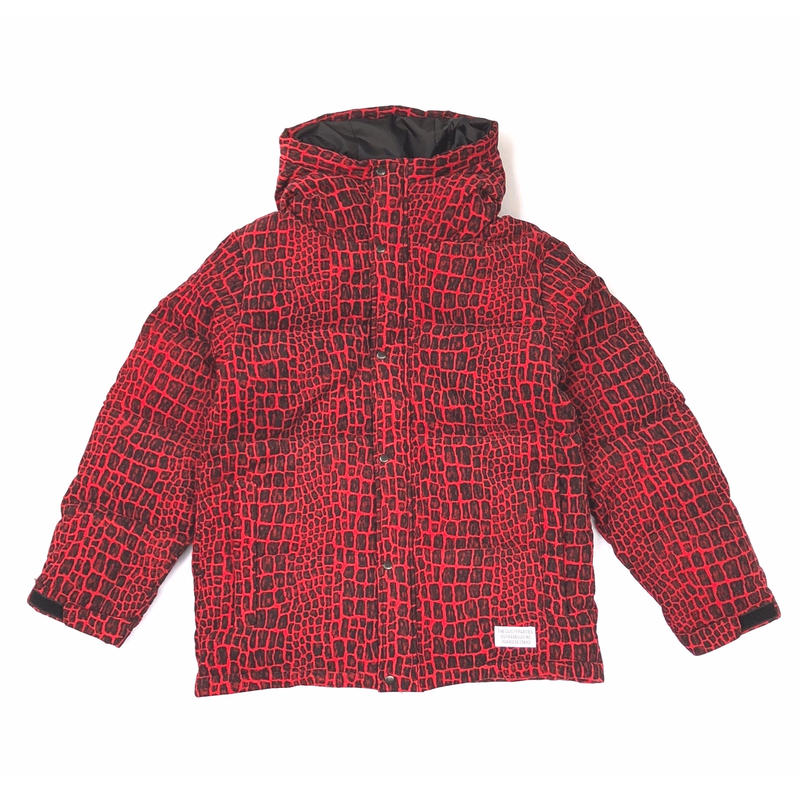 WACKO MARIA / CROCODILE HOODED DOWN JACKET (red)