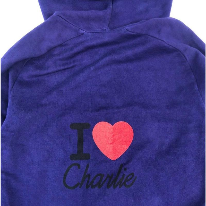 "John Galliano / ""I LOVE Charlie"" F/Z Sweat parka"