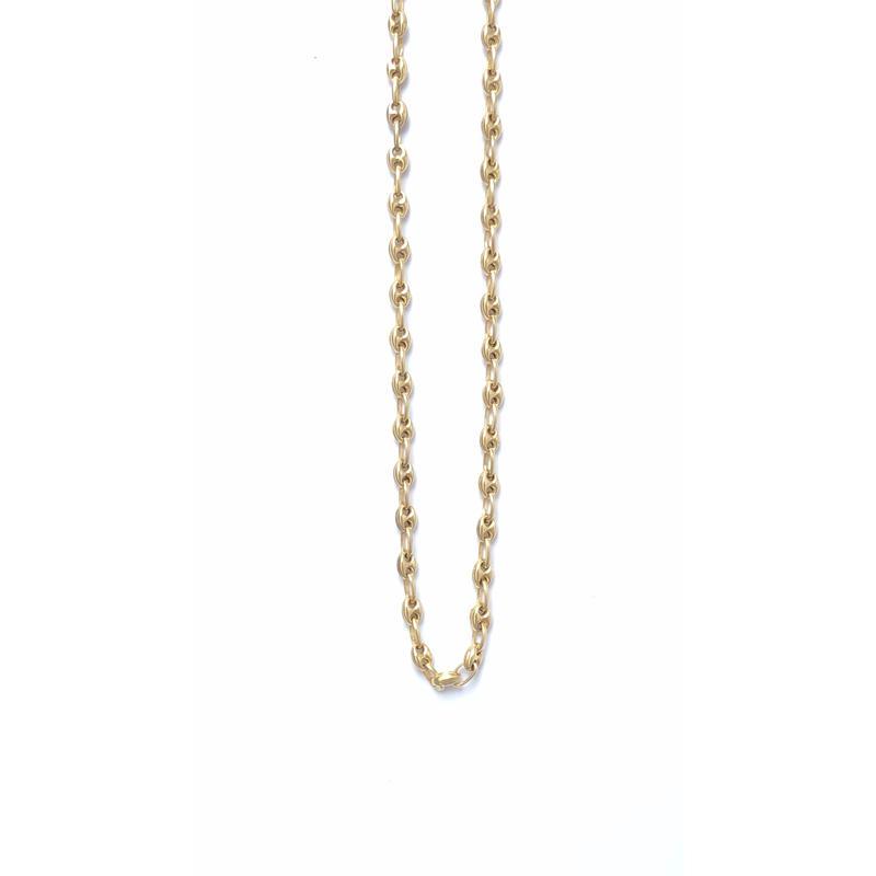 "14K GOLD NECKLACE ""Butabana"" (55cm)#9"