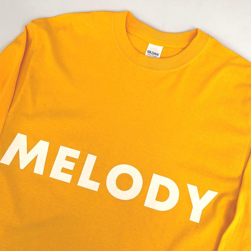 """tr.4 suspension / """"MELODY LIFE"""" L/S tee (gold)"""