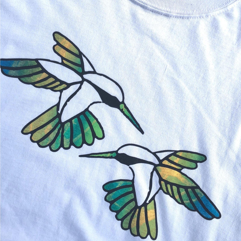 "tr.4 suspension / ""Humming Bird"" EDITION Print L/S Tee(size:M) #13"