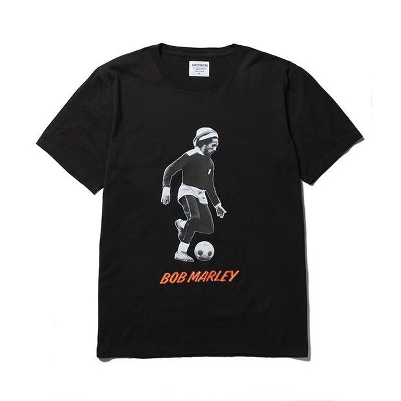 BOB MARLEY x WACKO MARIA /  STANDARD CREW NECK T-SHIRT (type-3 , black)