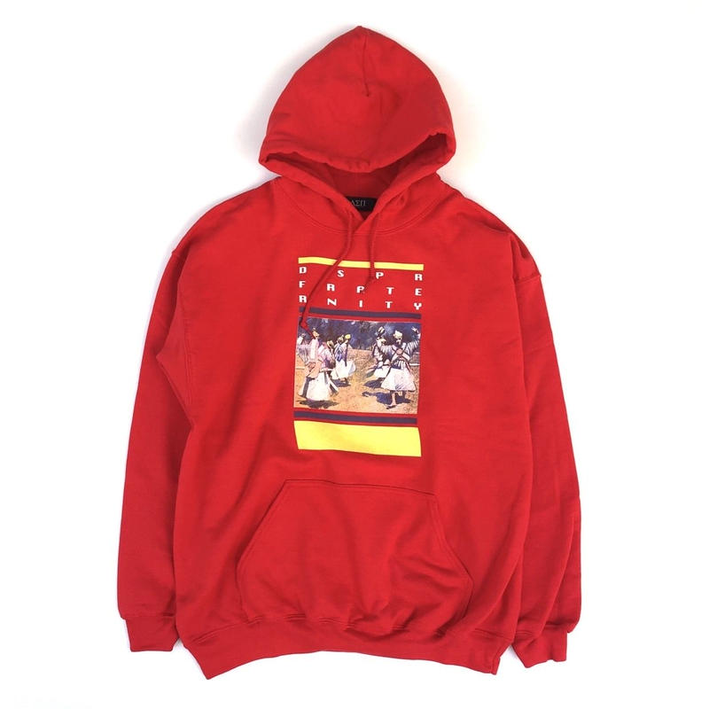 Diaspora skateboards /Alternative Hooded Sweatshirt  (Red)