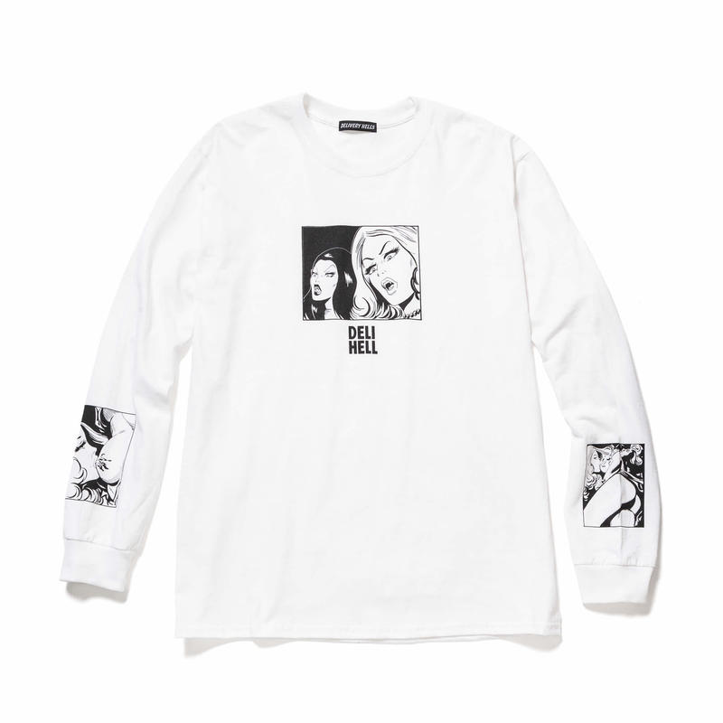 """Delivery Hells / """"Vampire"""" L/S Tee (white)"""