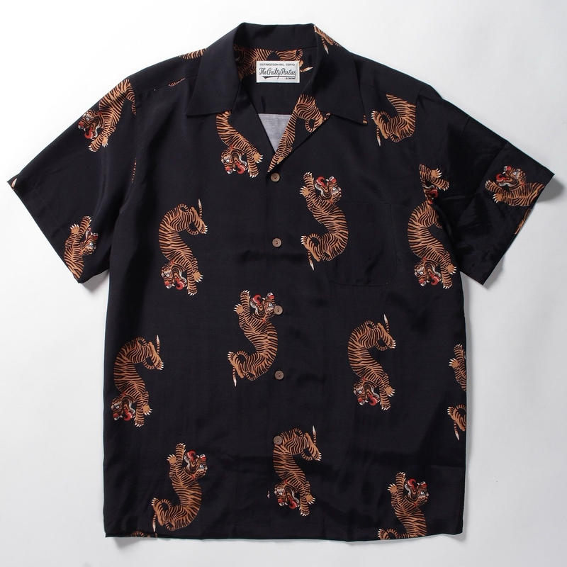 WACKO MARIA  /  hawaiian shirt (type-18)  (black)