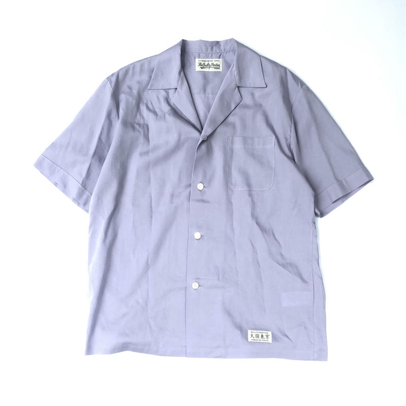 WACKO MARIA / MAFIA SHIRT L/S (type-1,purple)