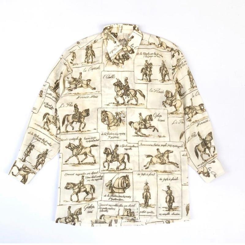 HERMES / Horse Pattern L/S Shirt