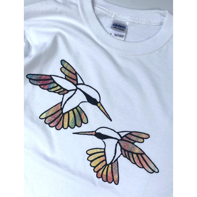 "tr.4 suspension / ""Humming Bird"" EDITION Print L/S Tee(size:S) #6"