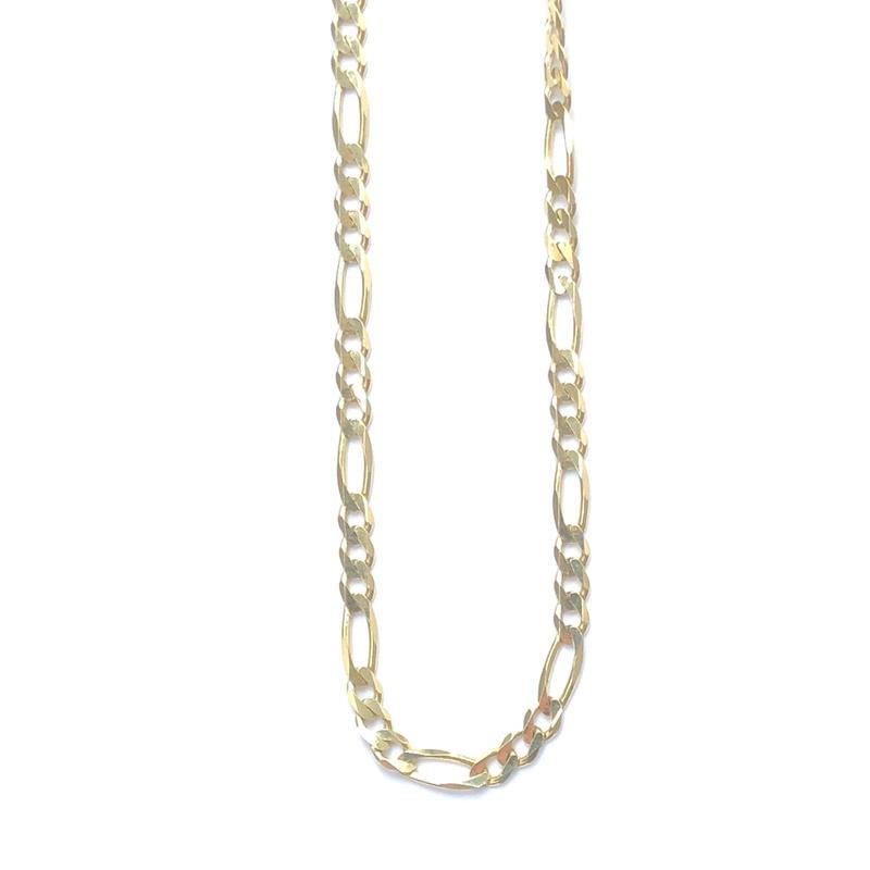 "14K GOLD NECKLACE ""Figaro"" (50cm)#12"