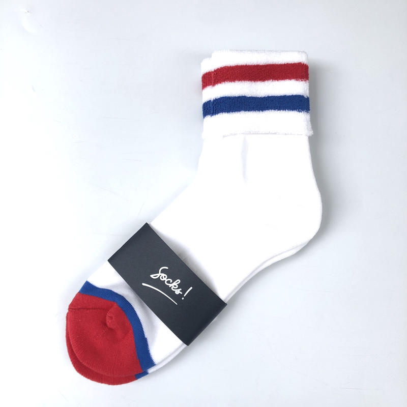 PHINGERIN / SOCKS! TWO LINER (white x red  x blue )