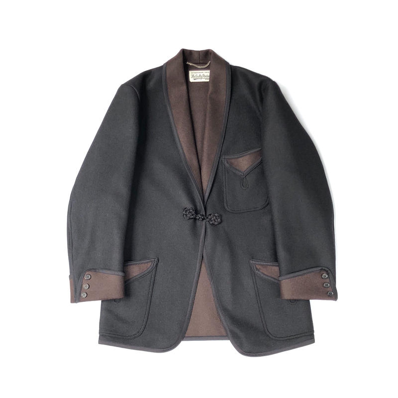 WACKO MARIA / SMOKING JACKET (type-2,black)